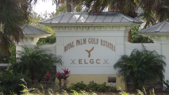 Royal Palm Golf Estates Sign