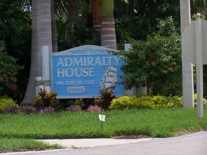 Admiralty House Sign