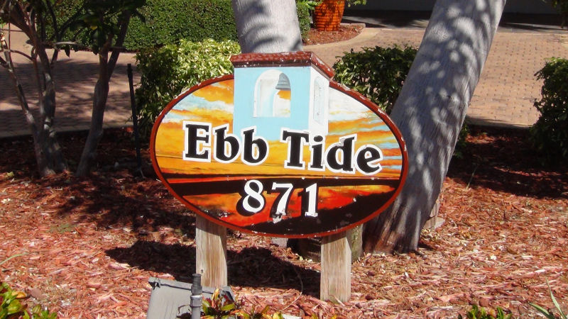Ebb Tide Sign
