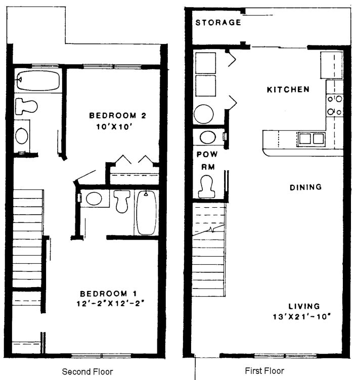 Two story condo floor plans for 2 story villa floor plans