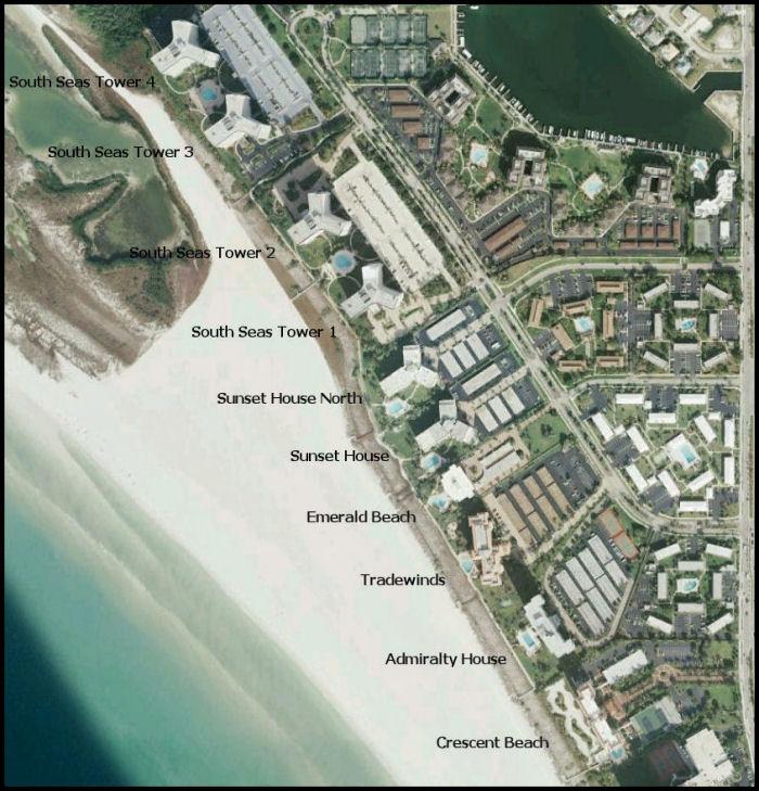 Marco Island Condo Map South Seas Towers 3 & 4   Marco Island Florida